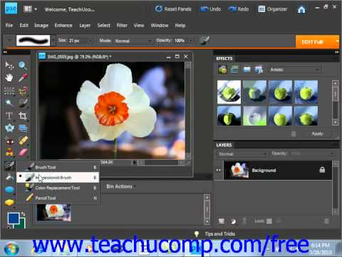 Photoshop Elements 9.0 Tutorial The Pencil Tool Adobe Training Lesson 6.5
