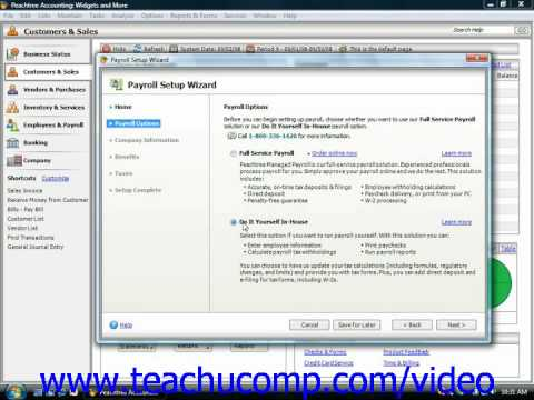Peachtree Tutorial The Payroll Setup Wizard Sage Training Lesson 2.5