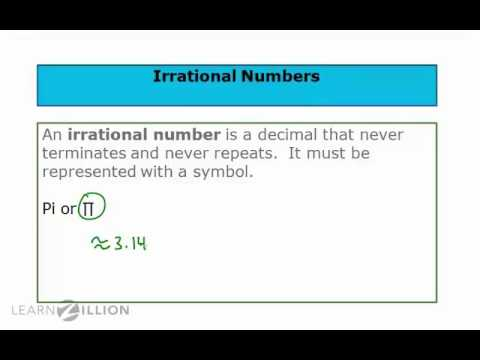 Understand and apply the definition of irrational numbers - 8.NS.1
