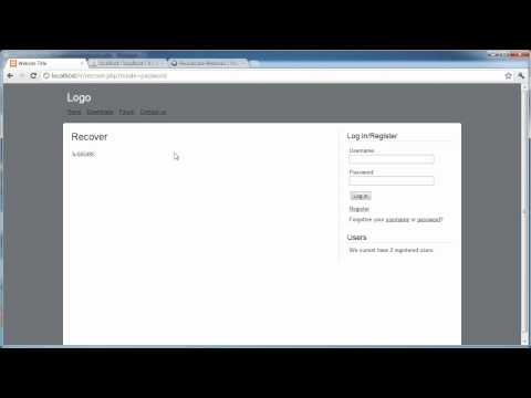 PHP Tutorials: Register & Login (Part 19): Forgotten Password (Part 1)