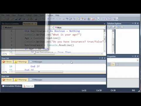 Visual Basic Tutorial - 15 - Nested If Statements