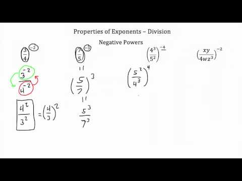 Properties of Exponents Division PT 2