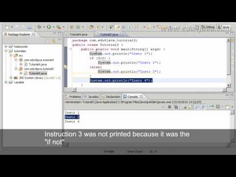 Tutiorial 5 Java - if else sentence. Old