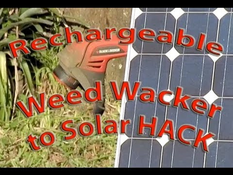 SOLAR WEED Weedeater HACK Weed Whacker Trimmer PV Photovoltaic Lawn Tools