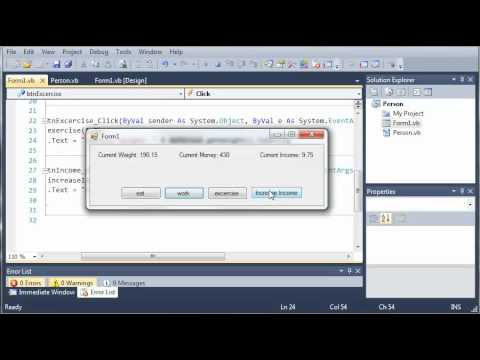 Visual Basic Tutorial - 93 - Person Part 2