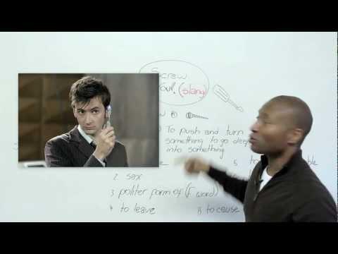 Slang in English - SCREW