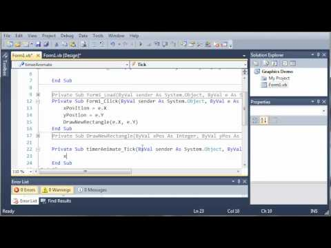 Visual Basic Tutorial - 166 - Animating Graphics