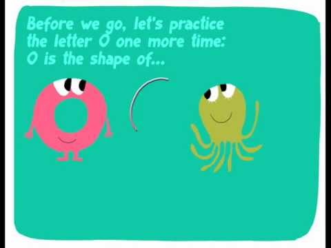 The alphabet for kids. Letter O: OSCAR & the OCTOPUS