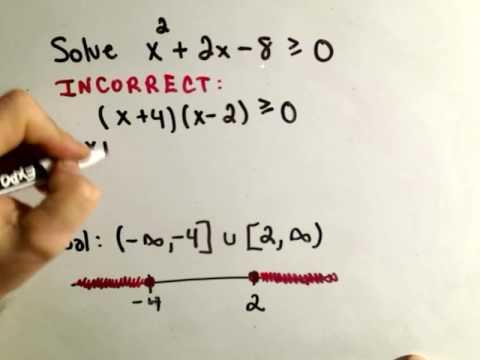 Solving Quadratic Inequalities - A Common Mistake