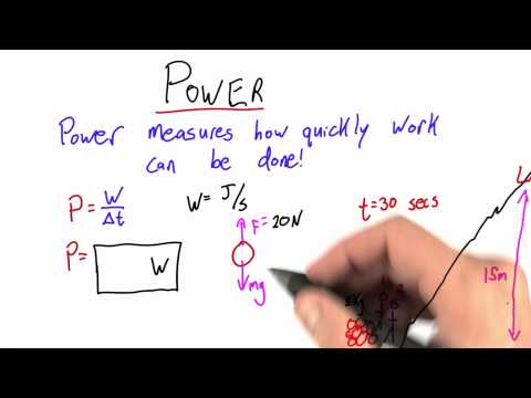 Power Solution - Intro to Physics - Work and Energy - Udacity