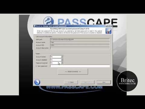 Reset or Remove Forgotten Windows 7 Administrator Password by Britec