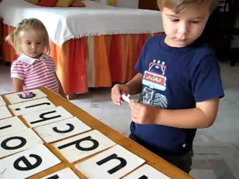 Toddler - Reading. Alphabet object game