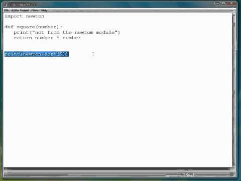 Python Programming Tutorial | Module Namespaces
