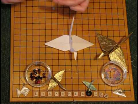 Origami Hanging Crane Ornament Instructions