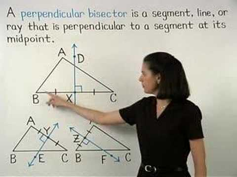 Perpendicular Bisector of a Triangle - YourTeacher.com