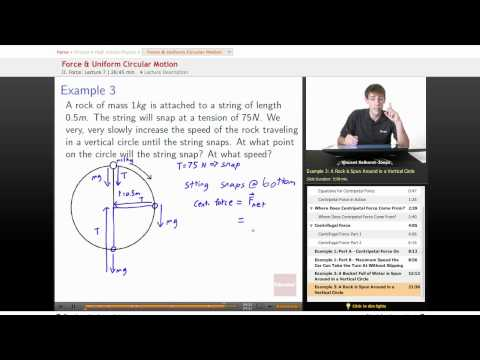 Physics: Force & Uniform Circular Motion