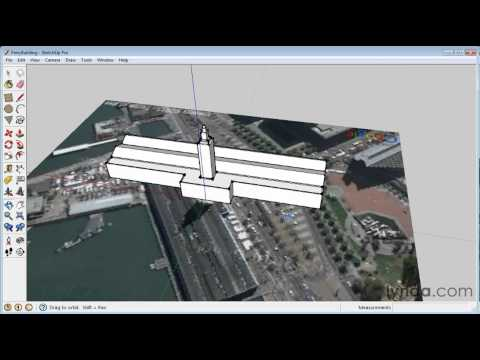 Using the Geo-location feature in Google SketchUp   lynda.com tutorial