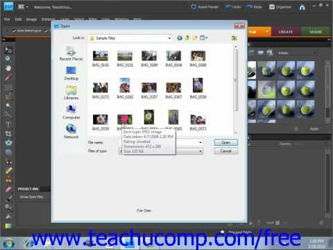 Photoshop Elements 9.0 Tutorial Opening Images Adobe Training Lesson 3.6