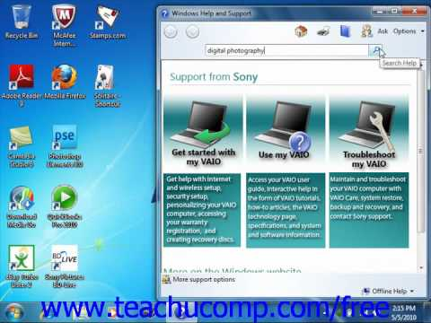 Windows 7 Tutorial Windows Help Microsoft Training Lesson 1.10