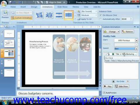 PowerPoint 2007 Tutorial Adding Custom Animation-2007 Only Microsoft Training Lesson 10.4