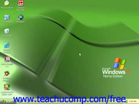 Windows XP Tutorial About Windows Microsoft Training Lesson 1.1
