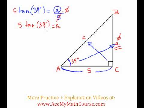 Solve the Right Triangle - Question #2