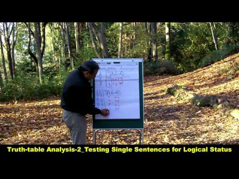 Truth-table Analysis-2_Testing Single Sentences for Logical Status_HD.mp4 - YouTube.mp4