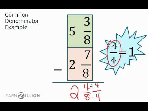 Subtract mixed fractions by regrouping - 7.NS.1