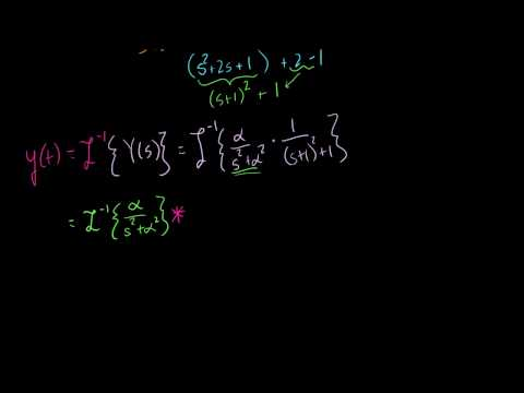 Using the Convolution Theorem to Solve an Initial Value Prob