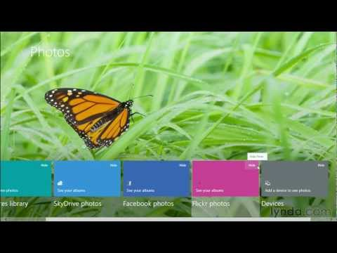 Windows 8 tutorial: Using the Photos application | lynda.com