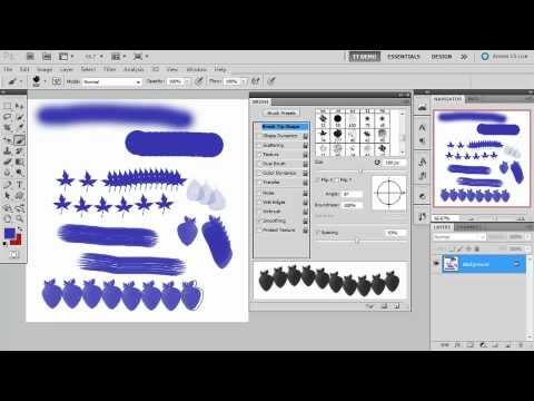 Total Training for Adobe Photoshop CS5 Extended Ch14 L2 Creating a Custom Brush