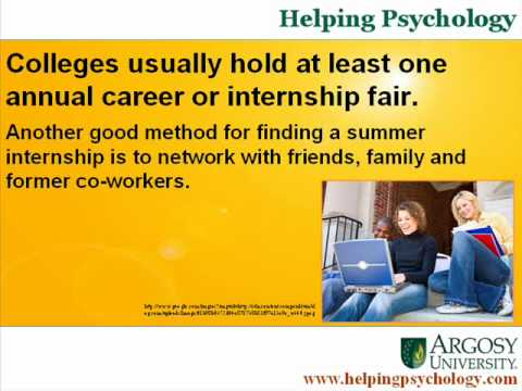 Summer Internships for Psychology Students