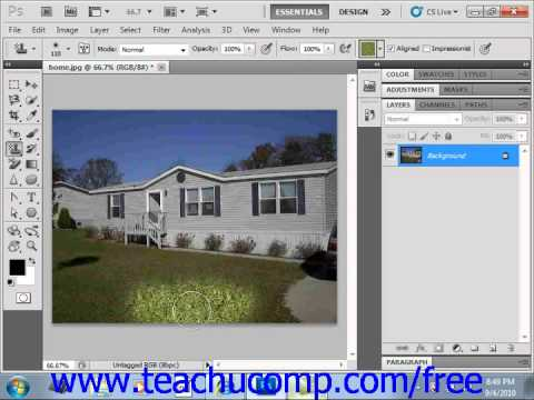 Photoshop CS5 Tutorial The Pattern Stamp Tools Adobe Training Lesson 14.16