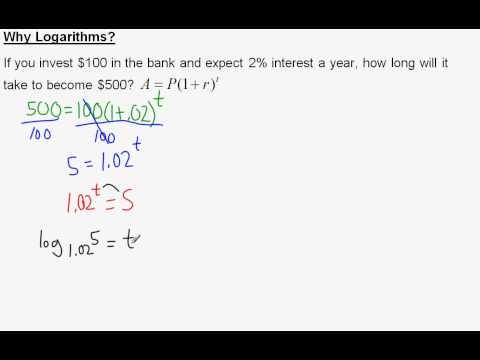 Why Logarithms?