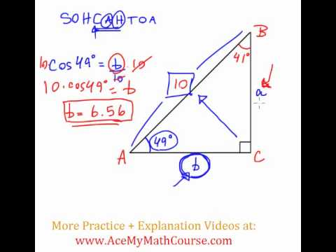 Solve the Right Triangle - Question #1