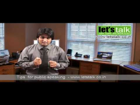 Tips for Public Speaking - Lets Talk English Speaking & Personality Development Training