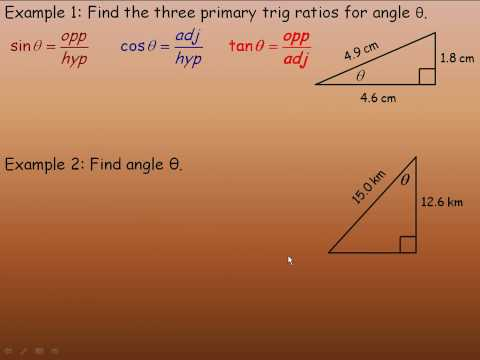 Sine and Cosine Ratios Part 1