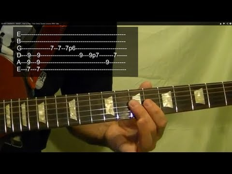 WASP ( Guitar Lesson ) by BLACK SABBATH ( With Tabs )