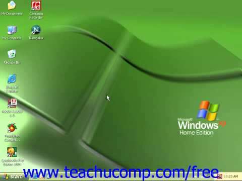 Windows XP Tutorial The Mouse Microsoft Training Lesson 1.3