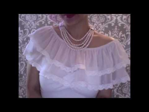 {ISSARA} How to sew a Ruffle Neckline Accessory