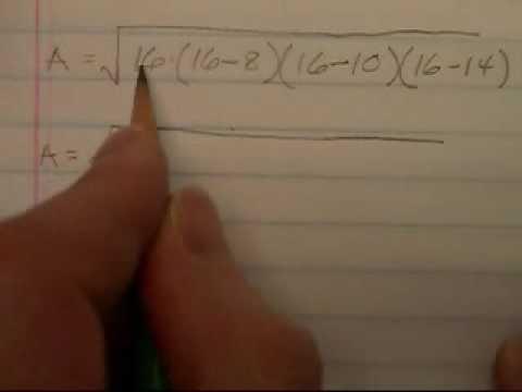 Using Heron formula