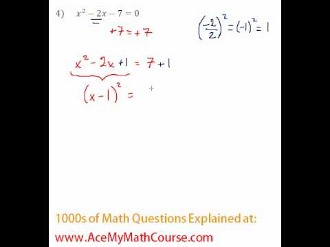 Solving by Completing the Square #4