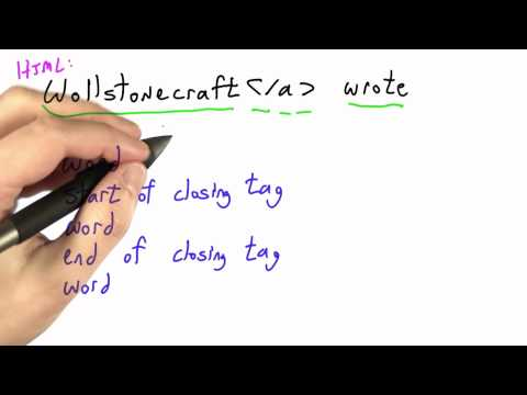 Taking Html Apart - CS262 Unit 2 - Udacity