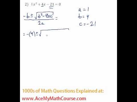 Quadratic Formula #2