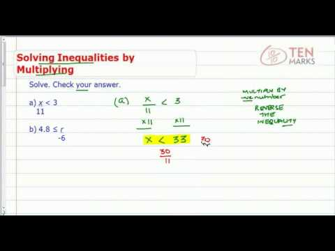 Solve Inequalities using Multiplication