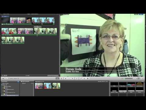 Part 3 (of 4) iMovie tutorials: Music, photos, text, transitions, voiceover, record w/your camera