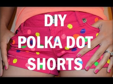 ✿ DIY POLKA DOT SHORTS ✿