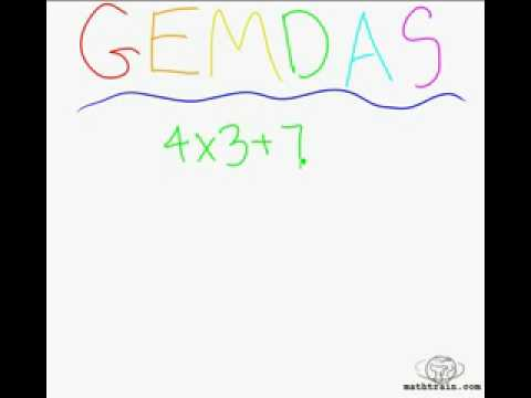 The Order of Operations PEMDAS or GEMDAS