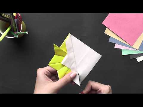Origami in Gujarati - Lets learn to make a Gold Fish