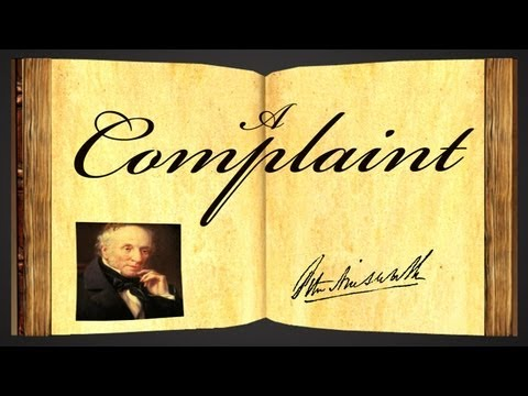 Pearls Of Wisdom - A Complaint by William Wordsworth - Poetry Reading